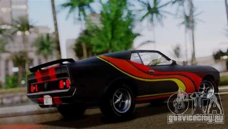 Ford Mustang Mach 1 429 Cobra Jet 1971 IVF АПП для GTA San Andreas салон
