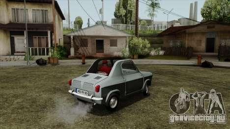 Vespa 400 для GTA San Andreas вид слева
