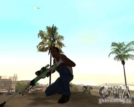 Green Pack Asiimov CS:GO для GTA San Andreas третий скриншот