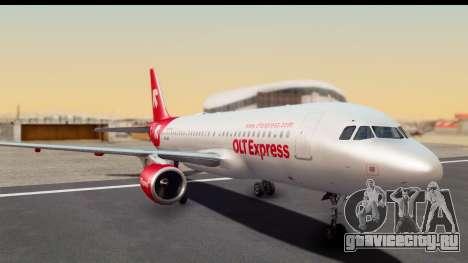 Airbus A320-200 OLT Express для GTA San Andreas вид сзади слева