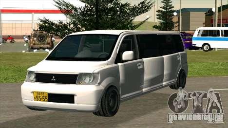 Mitsubishi EK Wagon Limo для GTA San Andreas вид сзади