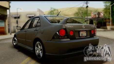 Lexus IS300 Tunable для GTA San Andreas вид снизу