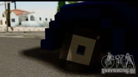 Minecraft Car для GTA San Andreas вид сзади слева