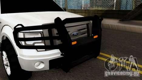 Ford F-150 4X4 Off Road для GTA San Andreas вид сзади слева
