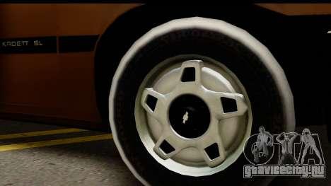Chevrolet Kadett SL v2.0 для GTA San Andreas вид сзади слева