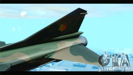 MIG-23ML Yuktobanian Air Force для GTA San Andreas вид сзади слева