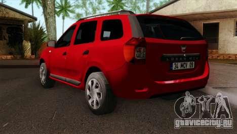 Dacia Logan MCV 2013 HQLM для GTA San Andreas вид слева