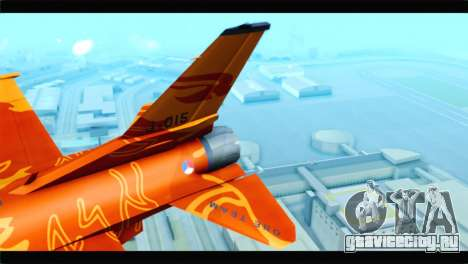 F-16D Fighting Falcon Dutch Demo Team J-015 для GTA San Andreas вид сзади слева