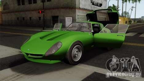 GTA 5 Grotti Stinger GT v2 SA Mobile для GTA San Andreas вид сзади
