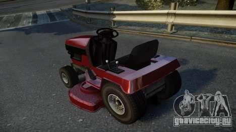 GTA V Lawn Mower для GTA 4 вид сзади слева