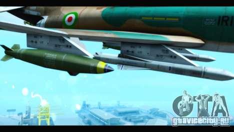 McDonnell Douglas F-4 IRIAF для GTA San Andreas вид справа