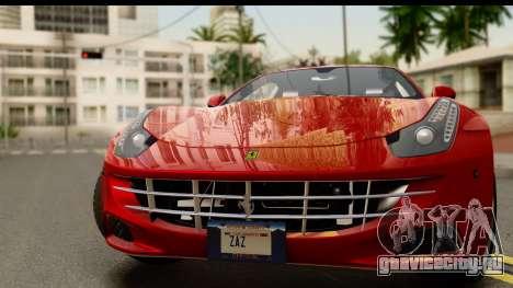 NFS Rivals Ferrari FF для GTA San Andreas вид сзади слева