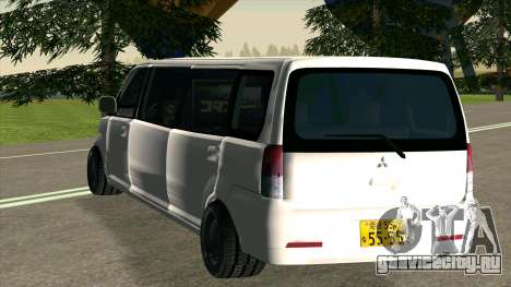 Mitsubishi EK Wagon Limo для GTA San Andreas вид справа