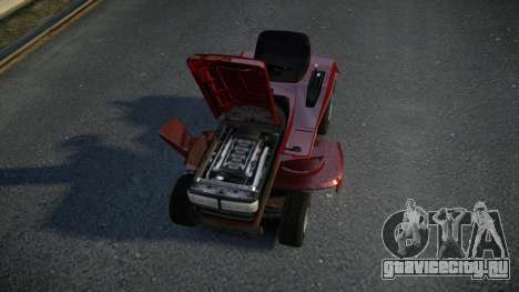 GTA V Lawn Mower для GTA 4 вид изнутри