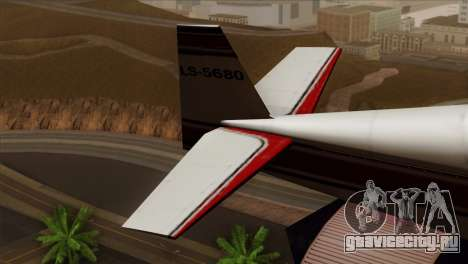 GTA 5 Stuntplane для GTA San Andreas вид сзади слева