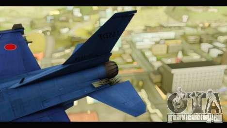 Mitsubishi F-2A JASDF Blue v2.0 для GTA San Andreas вид сзади слева