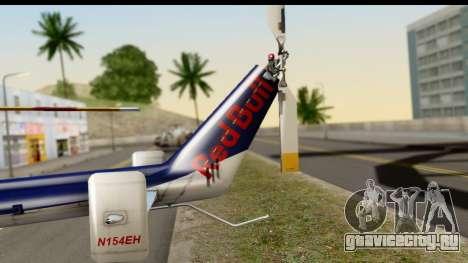 MBB Bo-105 Red Bull для GTA San Andreas вид сзади слева