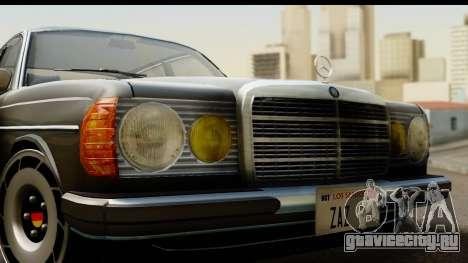 Mercedes-Benz 240 W123 Stance для GTA San Andreas вид сзади слева