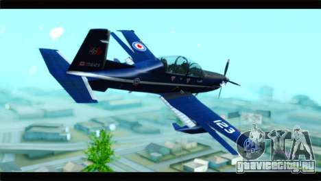 Beechcraft T-6 Texan II Royal Canadian Air Force для GTA San Andreas вид слева