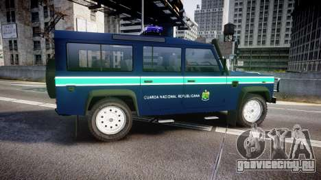 Land Rover Defender Policia GNR [ELS] для GTA 4 вид слева