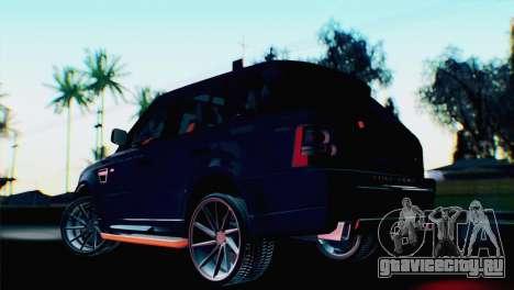 Range Rover Sport 2012 Samurai Design для GTA San Andreas вид слева