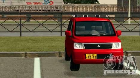 Mitsubishi eK Wagon для GTA San Andreas вид сзади