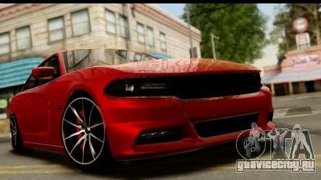 Dodge Charger RT 2015 для GTA San Andreas