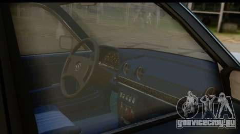 Mercedes-Benz 240 W123 Stance для GTA San Andreas вид изнутри