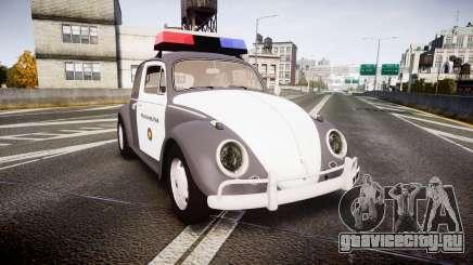 Volkswagen Fusca 1980 Military Police Sao Paulo для GTA 4