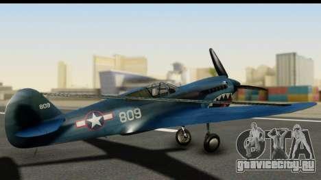 P-40E Kittyhawk US Navy для GTA San Andreas вид слева