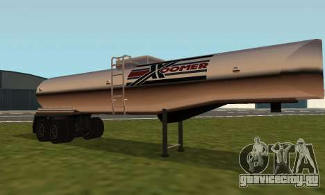 PS2 Petrol Trailer для GTA San Andreas вид слева
