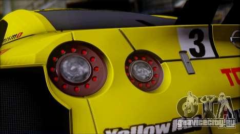 Nissan GTR R35 JGTC Yellowhat Tomica 2008 для GTA San Andreas вид сверху