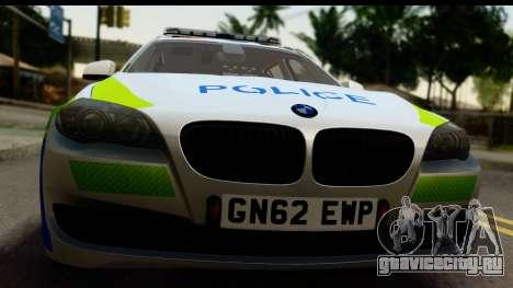 BMW 530d Kent Police RPU для GTA San Andreas вид сзади слева