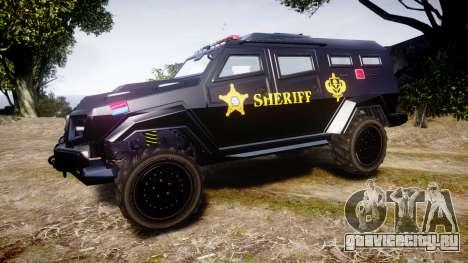 GTA V HVY Insurgent Pick-Up SWAT [ELS] для GTA 4 вид слева