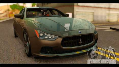 Maserati Ghibli S 2014 v1.0 SA Plate для GTA San Andreas