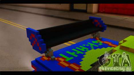 Minecraft Elegant для GTA San Andreas вид сзади
