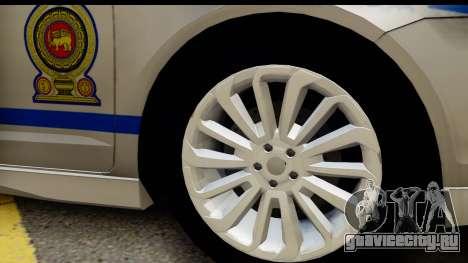 Ford Fusion 2011 Sri Lanka Police для GTA San Andreas вид сзади