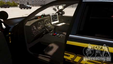Ford Crown Victoria Sheriff LC [ELS] для GTA 4 вид сзади слева