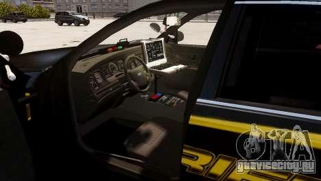 Ford Crown Victoria Sheriff LC [ELS] для GTA 4 вид сзади слева