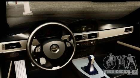 BMW M3 E90 Hamann для GTA San Andreas вид изнутри