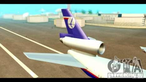 DC-10-30 PLL LOT для GTA San Andreas вид сзади слева