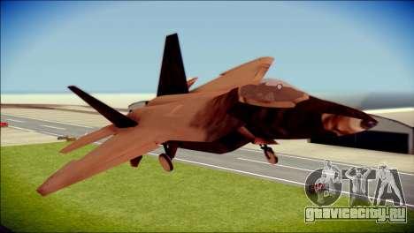 F-22 Raptor G1 Starscream для GTA San Andreas вид сзади
