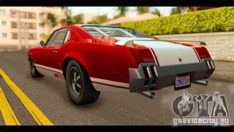 GTA 5 Declasse Sabre GT Turbo для GTA San Andreas вид слева