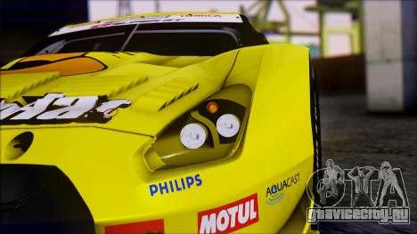 Nissan GTR R35 JGTC Yellowhat Tomica 2008 для GTA San Andreas вид изнутри