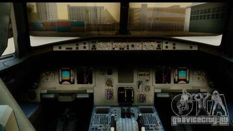 Airbus A320-200 AirAsia Queens Park Rangers для GTA San Andreas вид сзади слева