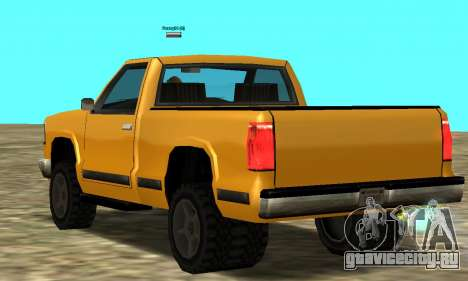 PS2 Yosemite для GTA San Andreas вид справа