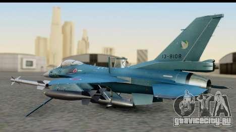F-2A Viper Blue для GTA San Andreas вид сзади слева