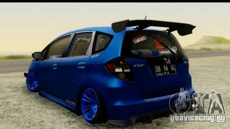 Honda Fit 2009 JDM Modification для GTA San Andreas вид слева