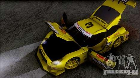 Nissan GTR R35 JGTC Yellowhat Tomica 2008 для GTA San Andreas вид снизу