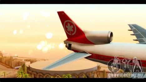 Lookheed L-1011 Air Canada для GTA San Andreas вид сзади слева